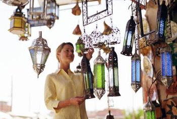 Use Moroccan lanterns for exotic accent lighting.