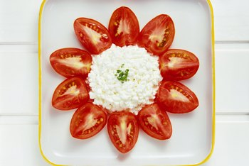 Cottage cheese with veggies or fruit makes for a satisfying bedtime snack.