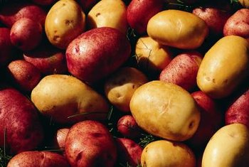 Potatoes are rich in potassium.