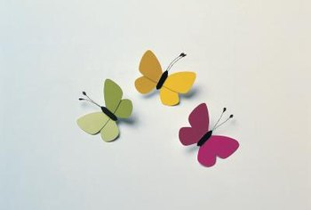 Paper butterflies may be whimsical for a child's room or more sophisticated for other areas in the home.