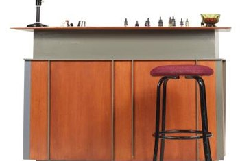 The top of your bar seat should be 9 to 12 inches below the bar top.