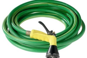 Properly roll a water hose to avoid damage.