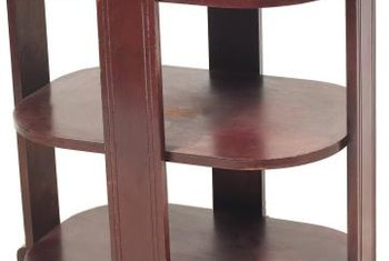 Polishing brings out the shine on rich mahogany furnishings.