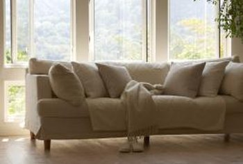 The right sofa anchors the living room and is often its most-used piece of furniture.