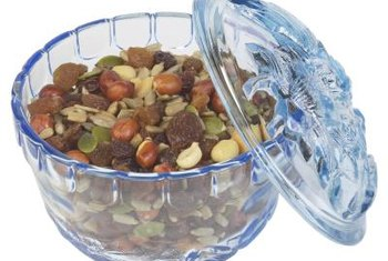 Add dried cherries to mixed nuts to create a nutritious, satiating snack.