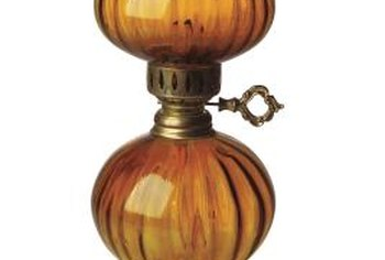 Oil lamps provide soft illumination and emergency lighting in a home.