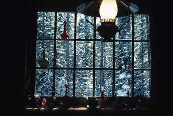 Rustic window treatments made from natural materials enhance your view.