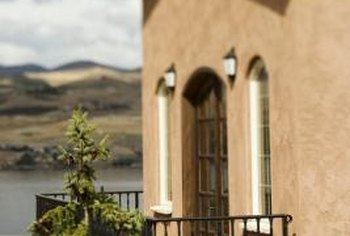 Stucco can lend a Southweastern or desert look to a home.