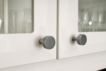 Using a template helps you install knobs evenly.