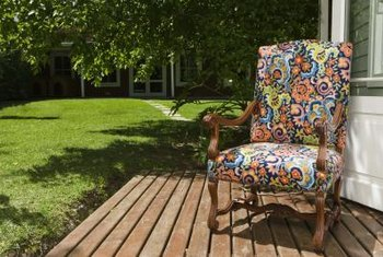Pressure-treated pine imparts a natural feel to backyard decks.