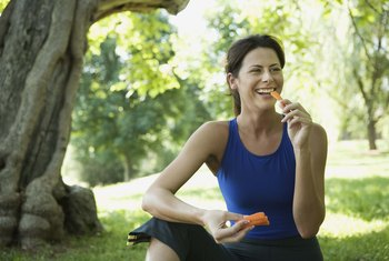 Choose low-calorie meals and snacks.
