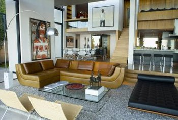 Use area rugs to create distinct zones within your loft.
