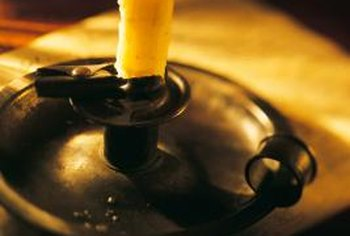 Candles don't always burn without dripping, so use a candleholder to collect drips.