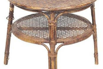 Vintage Rattan Can Be Hard To Find And Is Worth The Effort To Repair And  Refinish