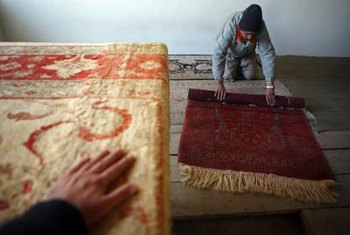 Hand-loomed carpets from Afghanistan are investment pieces for low-traffic areas.