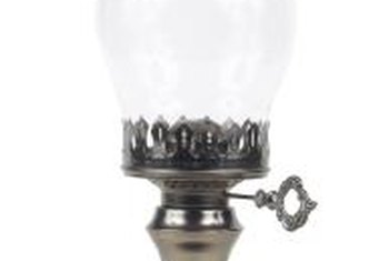 Clear glass lamps can get lost against pale walls.