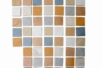 Slate mosaics often have a greater color variation than larger slate tiles.