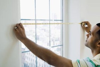 Accurate measurements of your window will determine the size of draperies you need.