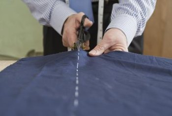 Defining the shape of your curtain, with straight or tapered edges, will be the most time-consuming part of this project.
