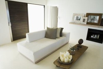 Light colors, natural elements and minimal furnishings make a room look light and airy.