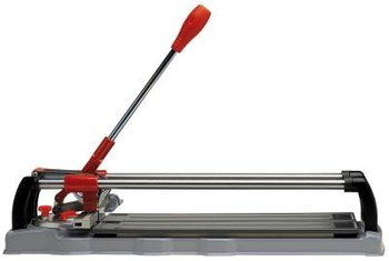 A VCT cutter works the same way a paper cutter does.