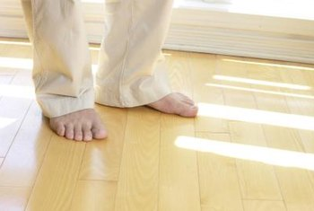 Water-based polyurethane gives a handsome, durable sheen to hardwood floors