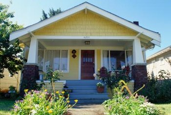 A Craftsman bungalow needs a simple, sturdy door.