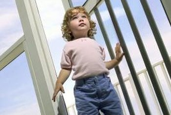 Screens should be installed to withstand the force of a child.
