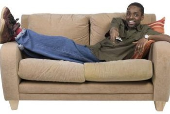 When couch cushions begin to sag, you have to get inventive when sitting on it.