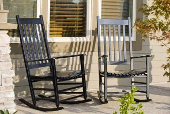 A cushion adds comfort and style to your favorite rocking chairs.