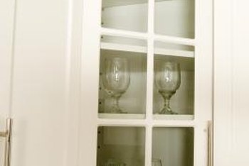 Acrylic cabinets can make a shatter-proof alternative to glass.