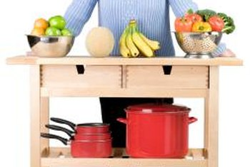 Available in a variety of sizes and styles, kitchen carts provide the welcome addition of extra storage and work space.