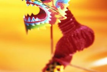 Chinese dragons are powerful symbols of good fortune for a Lunar New Year table.