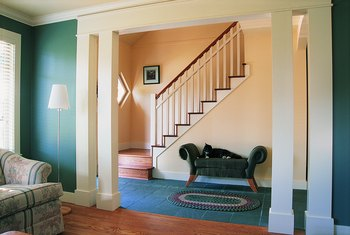 Peacock-colored paint is a good choice for a 1920s-inspired interior.