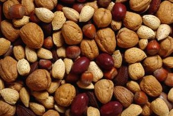 Nuts are a good source of protein and healthy fats.
