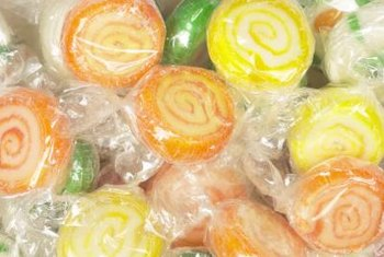 Create faux candies with standard party and craft supplies.