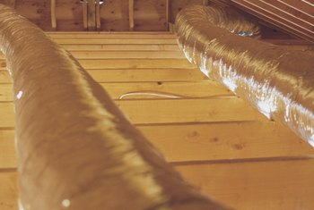 The placement of attic joists can affect ceiling stains.
