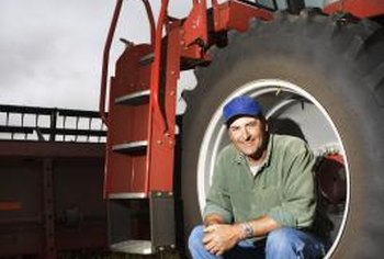 Tractor tires range from automobile-sized to more than 6 feet tall.