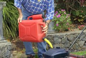 The wrong type of gas -- or old gas -- can damage your lawn mower.