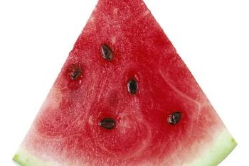The beta-carotene in watermelon serves as a source of vitamin A.
