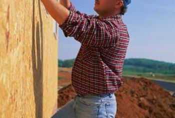 Plywood siding adds shear strength to structures such as houses.