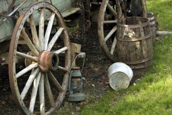 Once a neccessity for travelers in wagons, pails add an antique feel and character to garden areas.