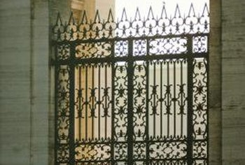 Gates made of ferrous metal should be painted to prevent corrosion.