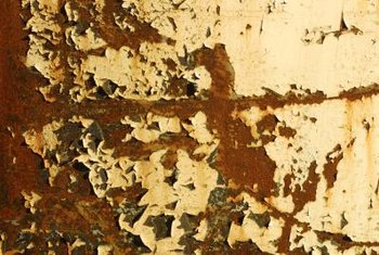Chipped lead paint could be ingested by children.