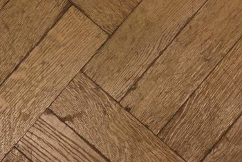 Aged wooden flooring has a time-worn character.