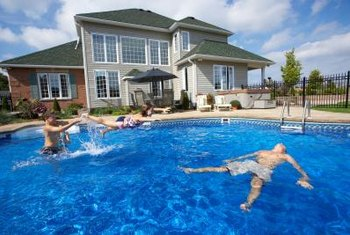 Prefabricated fiberglass pools often fade over time due to sun exposure.
