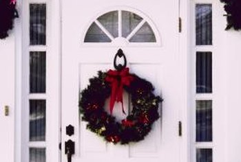Hang your garland out of the way of the door.
