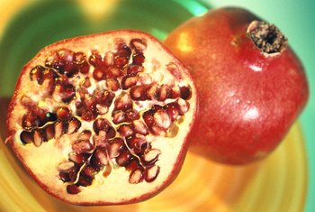 Pomegranate seeds are a good source of fiber and vitamin K.
