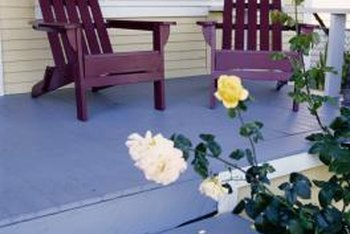 A fresh coat of paint makes your porch an inviting place to relax.