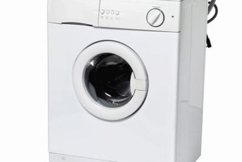 Hook up a washing machine to a stationary tub faucet using two single or one T-adapter.